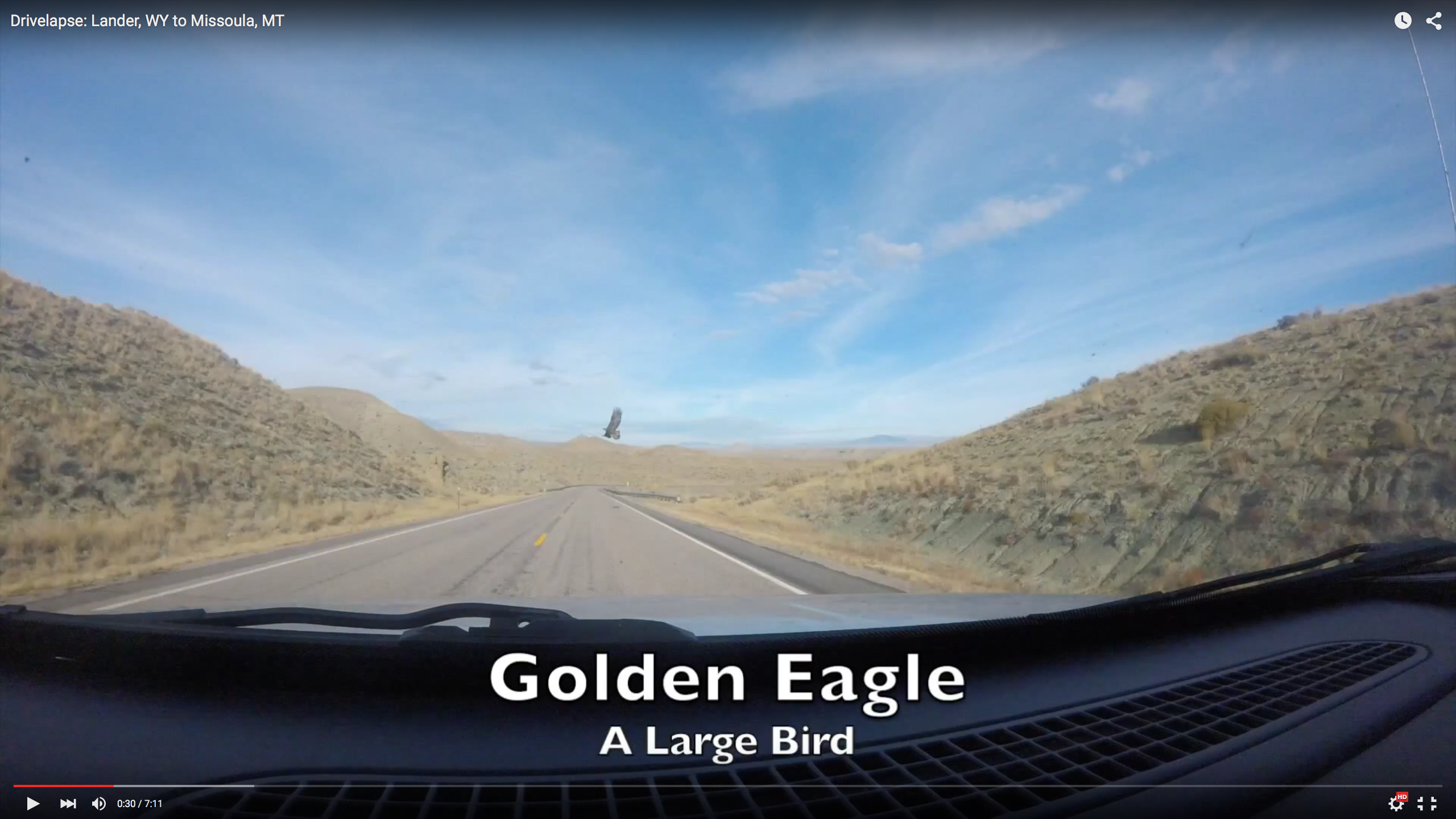 6 Minute Drivelapse from Lander, Wy to Missoula, Mt